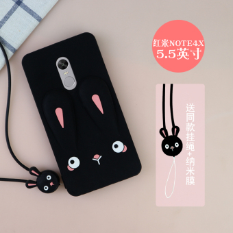 Note4 cute XIAOMI lanyard soft case phone case