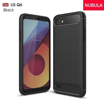 NUBULA High Quality Soft Rugged Armor Case For LG Q6 Carbon Fiber Brushed TPU shockproof Case/Ultra-thin Full Protection Anti-Scratch back Cover/Drop Resistance silicone Case Cover - intl