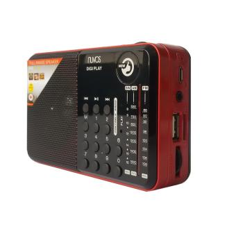 Nuvos Digi Play Portable AM/FM Radio (Red)