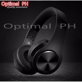 O-PH LED-Light Stereo Bluetooth Over-the-Ear Headphones OP-424(BLACK)