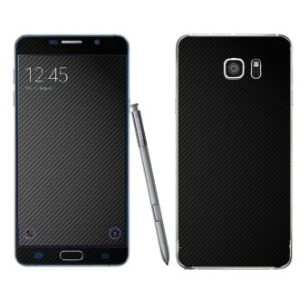Oddstickers Black Carbon Fiber 2 Phone Skin Cover for SamsungGalaxy Note 5