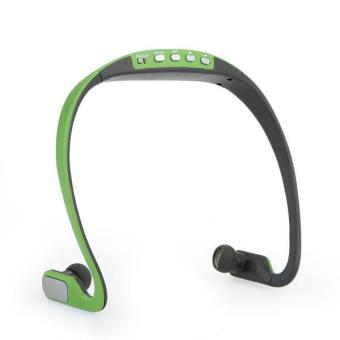 OEM Wireless Headset MP3 Player dengan FM Radio - Hijau Price Philippines