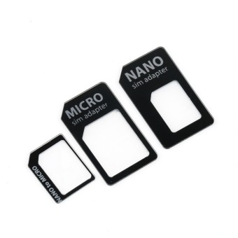 OH 3 in 1 Nano SIM to Micro Standard SIM MICROSIM Adaptor Adapterfor iPhone 5 Price Philippines
