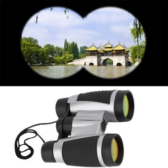 OH Folding Outdoor Travel Hunting Day Night Binoculars Telescope Zoom 6 x 30 (Black)