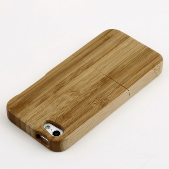 OH Natural Bamboo Wood Hard Back Case Cover Protector for Apple iPhone SE/5S/5