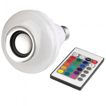 OH Smart Remote Control Bluetooth LED Bulb Music Speaker RGB NightLight Lamp (Intl)