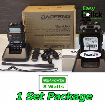 One Set Professional Two Way Radio Baofeng UV-5R High Power 8 Watts
