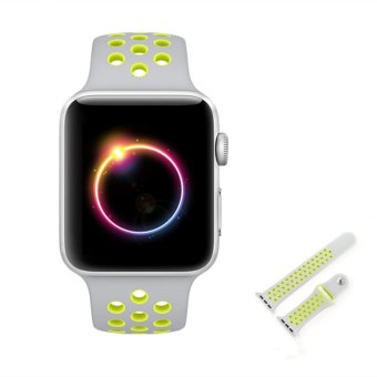 Ontube For Apple Watch Band Nike+ Series 1 Series 2, Soft SiliconeSport Bracelet Replacement Strap for iwatch band M/L Size 42mm -intl - 5