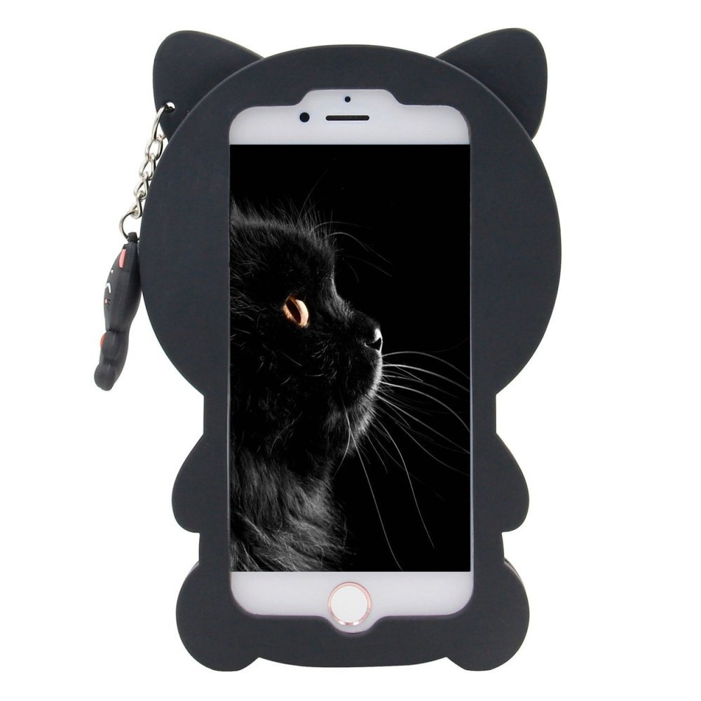 ... OPPO A39 Case,Lucky Cat Fortune Cat Black & White Kitty With Bow Silicone Rubber ...