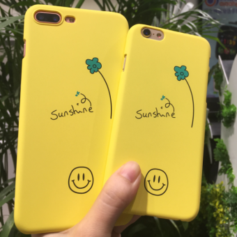 Oppo A57/A59 hand-painted flowers smiley phone case