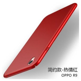 Oppo F1 Plus/R9 360 degrees Ultra-thin PC Hard shell phone case/Red- intl