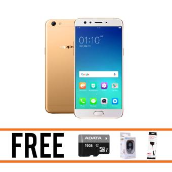 Oppo F3 Plus 64GB (Gold) FREE Adata 16GB, Selfie Stick, Bluetooth Shutter