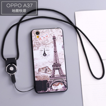 Oppo oppoa37/a37m/A33/a33m cute sets lanyard drop-resistant phone case