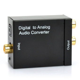 Optical Toslink Digital to Analog Audio Converter - Black - intl