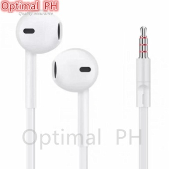 Optimal Stereo Headset With Mic For LG Phone (White)