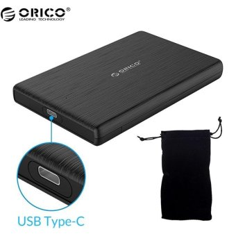 ORICO 2.5 Inch USB 3.0 to Type C External Hard Drive Disk Enclosurefor 9.5mm or 7mm SSD / HDD Support UASP SATA III(Black) - intl