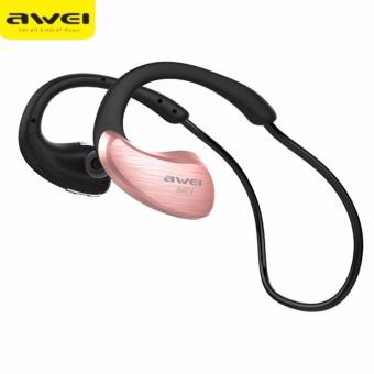 Original AWEI A885BL Waterproof Sport Wireless Bluetooth Headphones Earphones (Rose Gold)