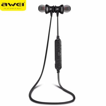 Original AWEI A980BL Bluetooth Earphone With Microphone Stereo Headset Sport Wireless Earbud For iPhone Xiaomi Sony MP3 MP4 PC(Black) - intl