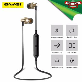 Original AWEI A990BL Wireless Sports Earphones (Gold)