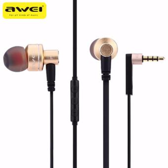 Original Awei ES10TY Powerful Sound Earphone (Gold)