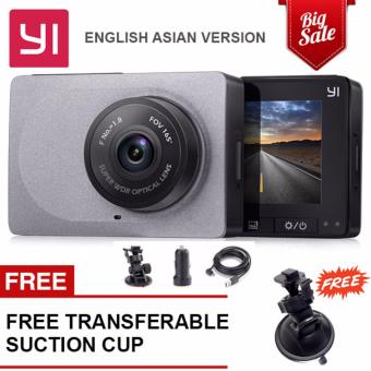 Original car dvrs cam Xiaomi YI Smart Car DVR Wifi Xiaoyi ADAS Camera 165 Degree Dashcam 1080 P 60fps 2.7 inch for Android & iOS (English Version Already) Grey