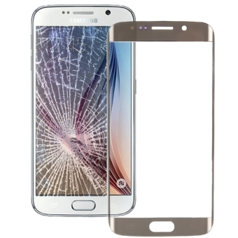 Original Front Screen Outer Glass Lens for Samsung Galaxy S6 edge / G925(Gold)