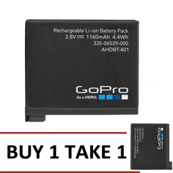 Original GoPro 1160mAh Battery for GoPro Camera (Black) SET Of 2