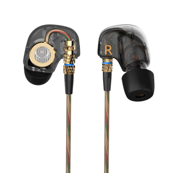 Original KZ ATE Sports Headphones Noise Cancelling In-Ear HeadsetBass HIFI Music Earphones for Iphone 6 Mobile Phone MP3 ComputerWithout Mic - intl