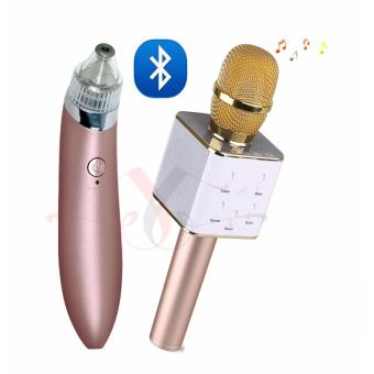Original MIKE Q7 Bluetooth Magic Microphone Wireless Speaker with Facial Skin Care Acne Blackhead Remover Vacuum Suction Pore Clean Machine