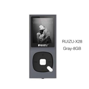 Original RUIZU X28 MP3 Player 8GB MP3/WAV/APE/WMA/FLAC High SoundQuality Lossless Music Player with FM Recorder Support TF Card -intl