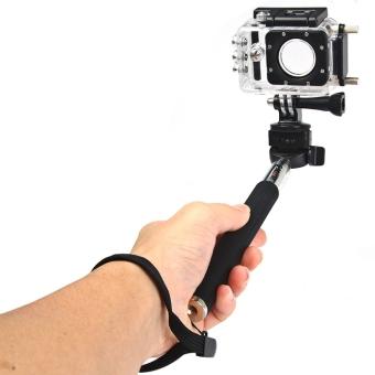 Original SJCAM Foldable Selfie Stick Camera Monopod with Adapter for GoPro Hero 4 / 3+ / 3 / 2 / 1 / SJ4000 / SJ5000 / SJ6000 Action Camera (Black) - intl - 5