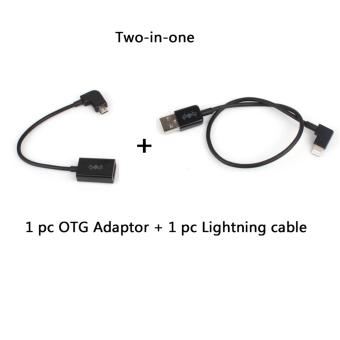 OTG Adapter and Lightning to USB Data Cable Data Line for iPhone iPAD DJI SPARK/ MAVIC PRO/ Phantom 3/4 and Inspire 1/2 Remote Controller
