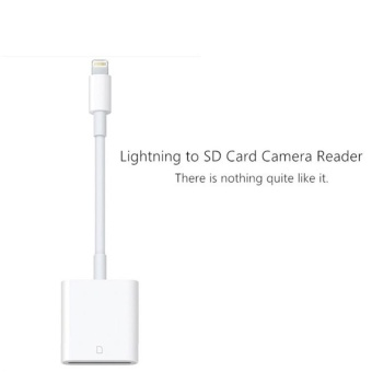 OTG SD Card Reader Digital Camera Reader Adapter Cable for iPhone5/6/7 and iPad White - intl - 2