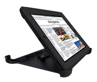 Otter Rugged Case Box Shockproof Silicone / PC Fall Case Suitablefor Apple ipad 2 / 3 / 4 (Black)