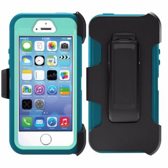 Otter Rugged Case Box Shockproof Silicone/ PC Fall Case Suitablefor Apple iPhone 6 Plus / 6s Plus (Cyan/White)