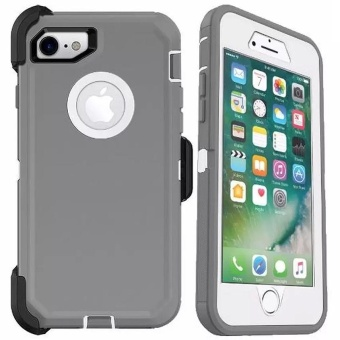Otter Rugged Case Box Shockproof Silicone/ PC Fall Case Suitablefor Apple iPhone 6 Plus / 6s Plus (Grey/White)