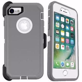 Otter Rugged Case Box Shockproof Silicone/ PC Fall Case Suitablefor Apple iPhone 7 Plus (Grey/White)