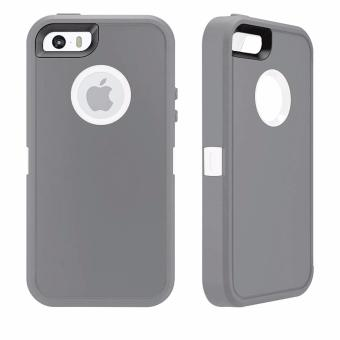 Otter Rugged Case Box Shockproof Silicone/ PC Fall Case Suitablefor Apple iPhone 7 Plus (Grey/White) - 3