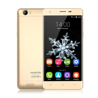 "OUKITEL K6000 4G 5.5"" HD IPS 2GB RAM 16GB ROM 13MP Dual Cameras6000mAh Gold - intl Price Philippines"