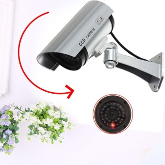 Outdoor Indoor Dummy Fake LED Flashing Security Cameras CCTV Surveillance - intl
