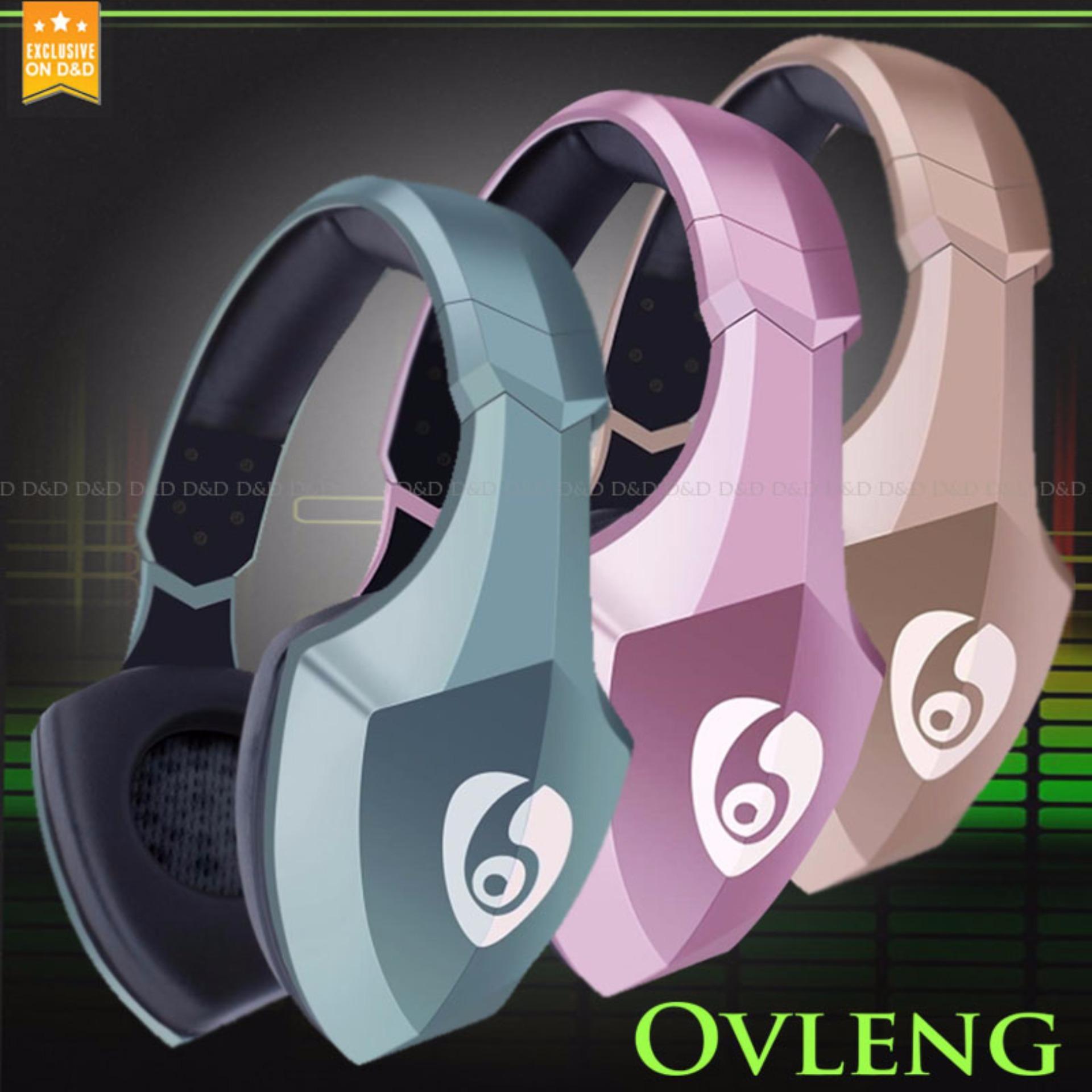 Ovleng S33 Kingkong Wireless Bluetooth Led Light Headphone Gold - Daftar Update Harga Terbaru Indonesia