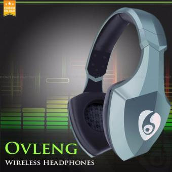 OVLENG S33 LED Lights Bluetooth 4.1 Wireless Stereo Headphones Support TF Card(Green)