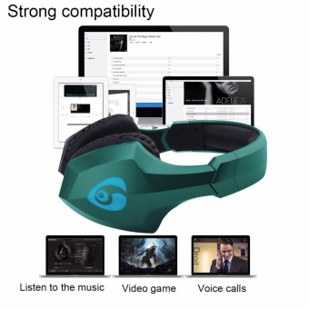 Ovleng S33 Wireless Stereo Bluetooth 4.0+EDR Headphones Portable Headset with LED Flash Light for iPhone and Android Devices (Green) - 4