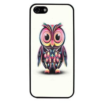 Owl Cute Pattern Phone Case for iPhone 5C (Black)