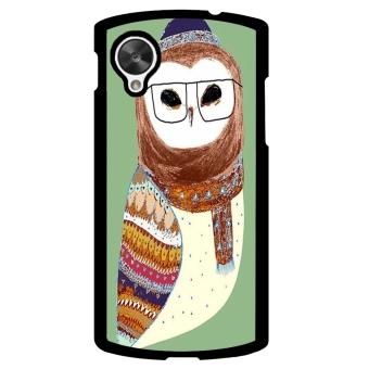 Owl Cute Pattern Phone Case for LG Nexus 5 (Multicolor)
