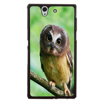 Owl Cute Pattern Phone Case for Sony Xperia Z L36H (Black)