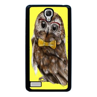 Owl Cute Pattern Phone Case for Xiaomi Redmi Note (Black)