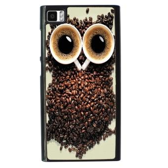 Owl Pattern Phone Case for Xiaomi Mi3 (Black)