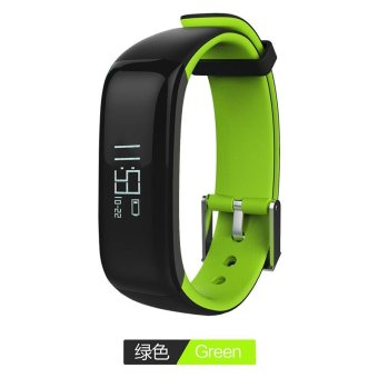P1 Bluetooth 4.0 Waterproof IP67 Smart Wristband Smartband Blood Pressure Monitor Heart Rate Monitor Smart Bracelet Fitness Tracker Smart Band for Android and IOS - Green - intl