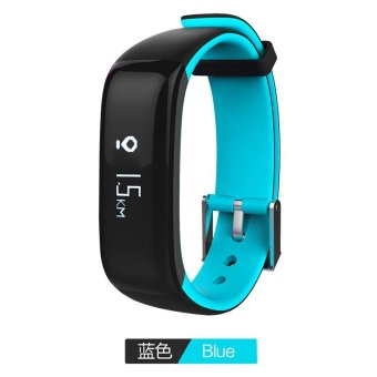 P1 Bluetooth 4.0 Waterproof IP67 Smart Wristband Smartband BloodPressure Monitor Heart Rate Monitor Smart Bracelet Fitness TrackerSmart Band for Android and IOS - Blue - intl